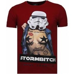 textil Herr T-shirts Local Fanatic Stormbitch Rhinestone Bordeaux