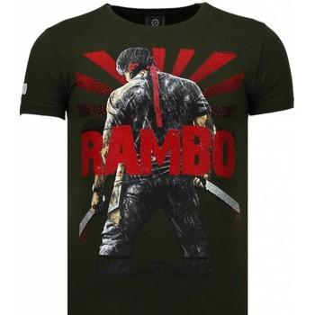textil Herr T-shirts Local Fanatic Rambo Shine Rhinestone Grön