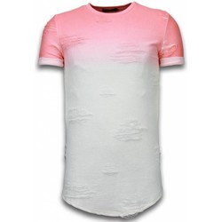 textil Herr T-shirts Justing Flare Effect Long Fit Dual Colored Röd