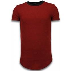 textil Herr T-shirts Justing D Long Fi Zipped Röd