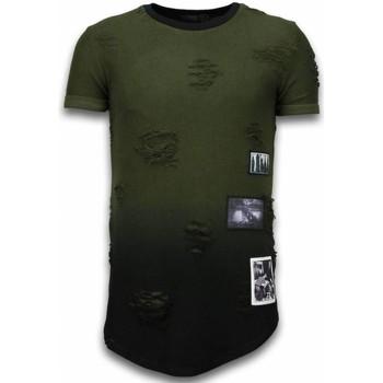 textil Herr T-shirts Justing Pictured Flare Effect Long Fit Grön