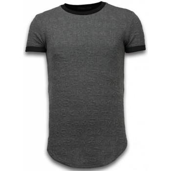 textil Herr T-shirts Justing D Long Fi Zipped Grå
