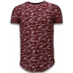 textil Herr T-shirts Justing Camouflage Long Fit Army Pattern Bordeaux