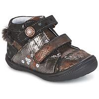 Skor Flickor Boots Catimini ROSSIGNOL Svart / Mässingsfärg