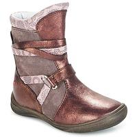 Skor Flickor Boots GBB ROSANA Rosa / Bordeaux