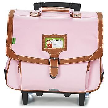 Väskor Flick Skolväskor på hjul Tann's LES INCONTOURNABLES TROLLEY CARTABLE 38CM Rosa / Tendre