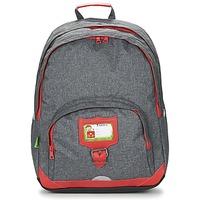 Väskor Barn Ryggsäckar Tann's CLASSIC SAC A DOS L Grå / Röd