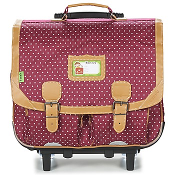 Väskor Flick Skolväskor på hjul Tann's LES CHICS FILLES CARTABLE TROLLEY 41CM Bordeaux