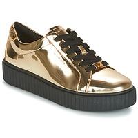 Skor Dam Sneakers MICHAEL Michael Kors TRAVOR LACE UP Guldfärgad