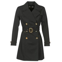 textil Dam Trenchcoats MICHAEL Michael Kors PLEATED TRENCH Svart