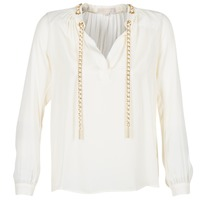 textil Dam Blusar MICHAEL Michael Kors SLIT L/S CHAIN Krämfärgad
