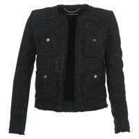 textil Dam Jackor & Kavajer MICHAEL Michael Kors FRAY TWD 4PKT JKT Svart / Silver