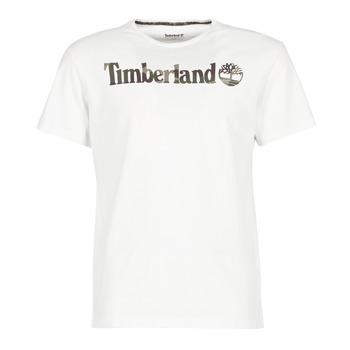 textil Herr T-shirts Timberland DUNSTAN RIVER CAMO PRINT Vit