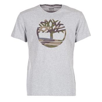 textil Herr T-shirts Timberland DUNSTAN RIVER CAMO PRINT Grå