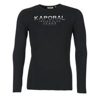 textil Herr Långärmade T-shirts Kaporal PONIO Svart
