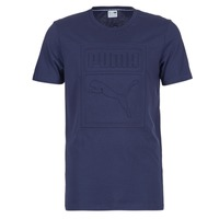 textil Herr T-shirts Puma ARCHIVE EMBOSSED LOGO TEE Marin