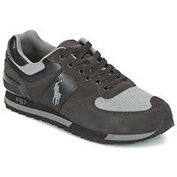 Skor Herr Sneakers Ralph Lauren SLATON PONY Svart / Grå