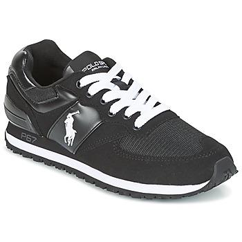 Skor Herr Sneakers Ralph Lauren SLATON PONY Svart