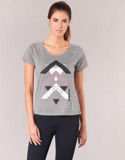 textil Dam T-shirts Only Play LINDA Grå