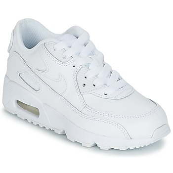 Skor Pojk Sneakers Nike AIR MAX 90 LEATHER PRE-SCHOOL Vit