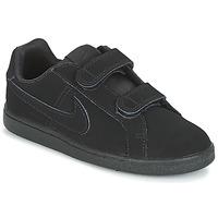 Skor Pojk Sneakers Nike COURT ROYALE PRE-SCHOOL Svart