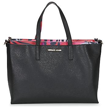 Väskor Dam Shoppingväskor Versace Jeans ANTALOS Svart / Röd / Flerfärgad