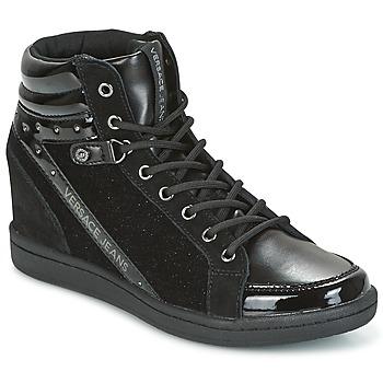 Skor Dam Höga sneakers Versace Jeans  Svart