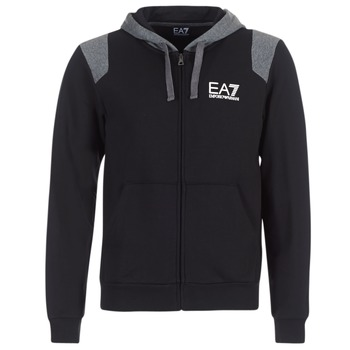 textil Herr Sweatshirts Emporio Armani EA7 TRAIN TRITONAL M HOODIE FZ Svart