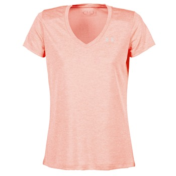 textil Dam T-shirts Under Armour TECH SSV - TWIST Korall