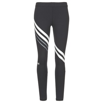 textil Dam Leggings Under Armour FAVORITE LEGGING ENGINEERED Svart / Vit
