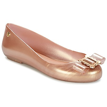 Skor Dam Ballerinor Melissa VW SPACE LOVE 18 ROSE GOLD BUCKLE Rosa / Guld