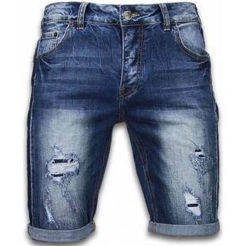 textil Herr Shorts / Bermudas Enos Shorts För Jeansshorts Långa JB Blå