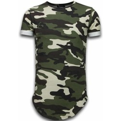 textil Herr T-shirts Tony Backer Known Camouflage Long Fi Army Groen Grön