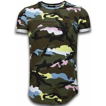 textil Herr T-shirts Tony Backer Camouflage Long Fi Army UPTP Grön