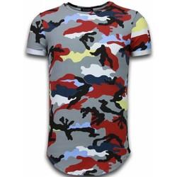 textil Herr T-shirts Tony Backer Camouflage Long Fi Army UPTP Bordeaux