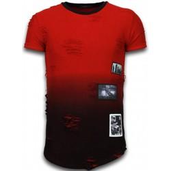 textil Herr T-shirts Justing  Röd