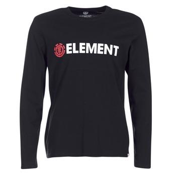 textil Herr Långärmade T-shirts Element BLAZIN LS Svart