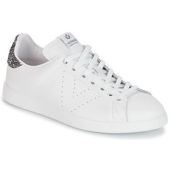 Skor Dam Sneakers Victoria DEPORTIVO BASKET PIEL Vit / Grå
