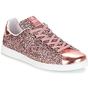 Skor Dam Sneakers Victoria DEPORTIVO BASKET GLITTER Rosa