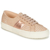 Skor Dam Sneakers Superga 2750 PU SNAKE W Beige