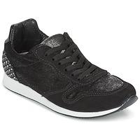 Skor Dam Sneakers Ippon Vintage RUN VELVET Svart