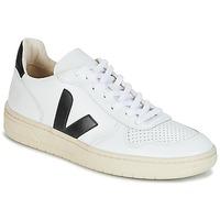 Skor Sneakers Veja V-10 Vit / Svart