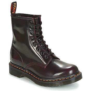 Skor Dam Boots Dr Martens 1460 Röd / Körsbär