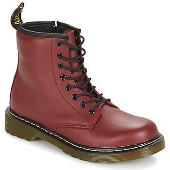 Skor Barn Boots Dr Martens DELANEY Röd / Körsbär