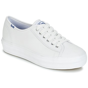 Skor Dam Sneakers Keds TRIPLE KICK CORE LEATHER Vit