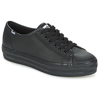 Skor Dam Sneakers Keds TRIPLE KICK CORE LEATHER Svart