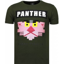 textil Herr T-shirts Local Fanatic Panther For A Cougar Rhinestone Grön