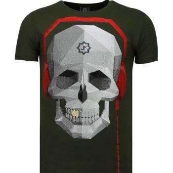 textil Herr T-shirts Local Fanatic Skull Bring The Beat Grön