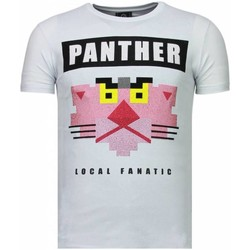 textil Herr T-shirts Local Fanatic Panther For A Cougar Rhinestone Vit