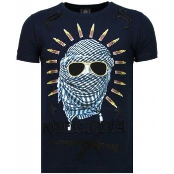 textil Herr T-shirts Local Fanatic Freedom Fighter Rhinestone B Blå